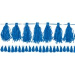 Royal Blue Tassel Garland Decoration - 3m