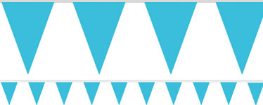 Turquoise Paper Bunting - 4.5m