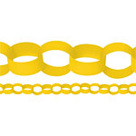 Yellow Paper Chain Garland Decoration - 3.9m