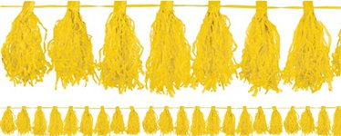 Yellow Tassel Garland Decoration - 3m