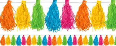 Multicoloured Tassel Garland Decoration - 3m