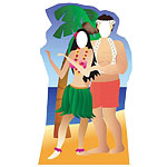 Hawaii Couple Photo Prop - 6ft
