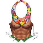 Plastic Hula Hunk Vest Fancy Dress