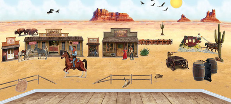 Wild West Setters Cowboy Decorations Party Delights