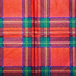 Scottish Tartan Luncheon Napkin 33cm 20pk