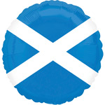 "Blue & White Scottish Flag Celebration Balloon- 18"" Foil"