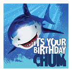 Shark Splash Party Paper Luncheon Birthday Napkins 3ply