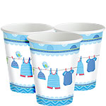 Boy's Shower With Love Cups - 256ml Paper Party Cups