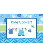 Boy's Shower With Love Invitations and Envelopes