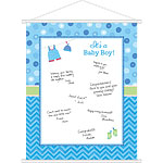 Boy's Shower With Love Sign In Sheet