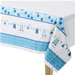 Boy's Shower With Love Plastic Tablecover