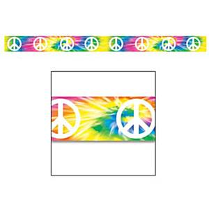 Tye Dye Fun Peace Sign Party Tape - 20ft