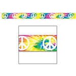 Peace Sign Party Tape - 20ft
