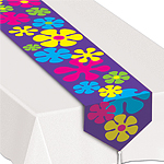Retro Flowers Table Runner