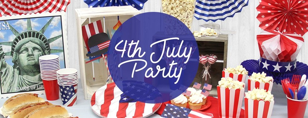 4th July Party, Celebrate American Independence Day with USA themed tableware, decorations & accessories!