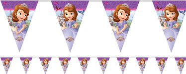 Sofia the First Plastic Bunting - 2.3m