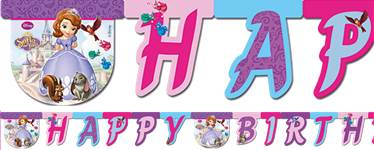 Sofia the First 'Happy Birthday' Die-Cut Banner