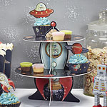Space Adventure Cupcake Stand