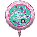 "Sparkle Spa Party Balloon - 18"" Foil"