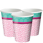Sparkle Spa Party Cups - 256ml Paper Party Cups
