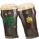 "St Patrick's Day Beer Glasses Super Shape Balloon - 28"" Foil"