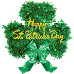Deluxe Tinsel Shamrock Decoration - 45 cm