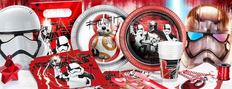 Star Wars The Last Jedi Party Supplies