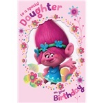 Trolls Daughter Birthday Card