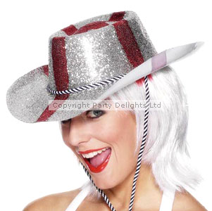 England Football Party England Glitter Cowboy Hat