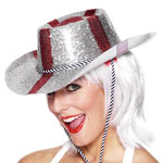 England Glitter Cowboy Hat Fancy Dress