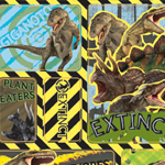 Natural History Dinosaur 3D Stickers
