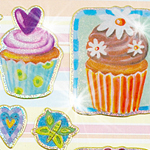 Prismatic Cupcakes Stickers