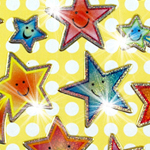 Prismatic Happy Stars Stickers