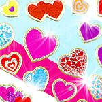 Prismatic Hearts Stickers