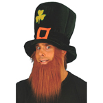 Leprechaun foam hat with beard
