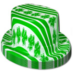 Stripe and Shamrock print Top Hat