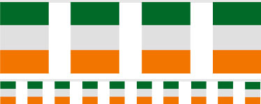 Irish Flag Bunting - 7m Plastic