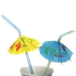 Catering Supplies Luau Umbrella Straws