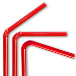 Red Flex Straws