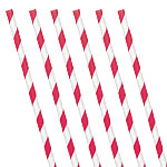 Apple Red Stripe Paper Straws