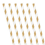 Gold Stripe Paper Straws