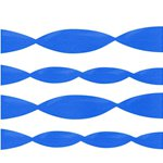 Blue Crepe Paper Streamer - 24m