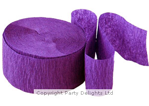 Streamers Crepe Streamer Purple - 81ft