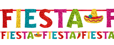 Fiesta Banner - 3.65m Glitter Mexican Decoration