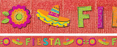 Fiesta Fringe Banner - 3m Mexican Decoration