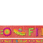 Mexican Fiesta Fringe Banner - 3m