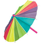 Paper Umbrella Decoration - 38cm Hawaiian Decoration