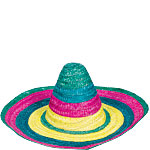 Summer Sombrero - Multi Coloured