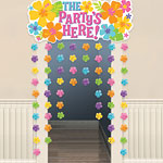 The Party's Here Summer Door Curtain