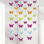 Butterfly String Decorations (6 strings)